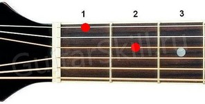 Аккорд Dm6 (Минорный секстаккорд от ноты Ре)