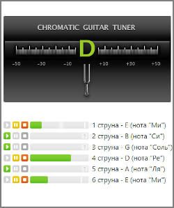 Тюнер для гитары